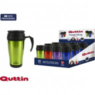 travel mug 400ml acero inox metalizado quttin colores surtidos