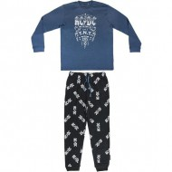 pijama largo interlock music acdc talla m