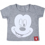 camiseta corta single jersey mickey 6 meses