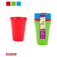 set 5 vasos pp ligth privilege colores surtidos