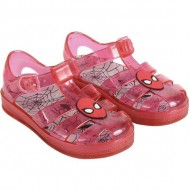 sandalias playa spiderman rojo talla 26