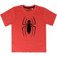 camiseta corta premium single jersey spiderman rojo talla 3 años