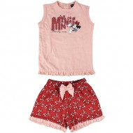 conjunto 2 piezas single jersey minnie rojo talla 12 meses