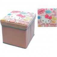 puff acolchado 32x32x32cm remate hello kitty
