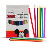caja 18 lapices color mickey