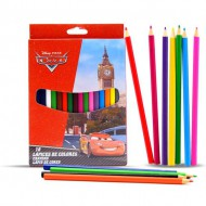 caja 18 lapices color cars