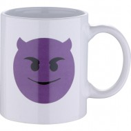 mug 33cl gres devil white emoticon