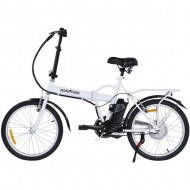 skateflash folding e bike blanca