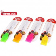 pincel silicona mango clear 22cm privilege colores surtidos