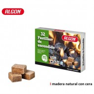 pastilla madera natural c cera 32pc algon