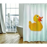 cortina de baño poliester 180x200cm mr duck