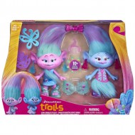 trolls set de diseño saten y chanelle