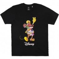 camiseta corta premium adulto single jersey disney negro talla m