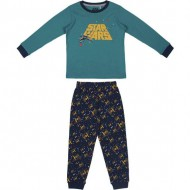 pijama largo interlock star wars verde talla 6 años