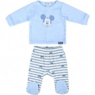 polaina velour cotton mickey beis talla 0 meses