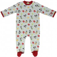 pelele single jersey mickey grey 18 meses