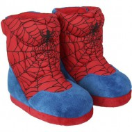 zapatillas de casa bota spiderman rojo talla 26 27