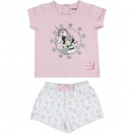 pijama corto single jersey minnie rosa 12 meses