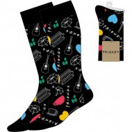 calcetines friends negro talla 35 41