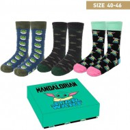 pack calcetines 3 piezas the mandalorian the child multicolor talla 35 41