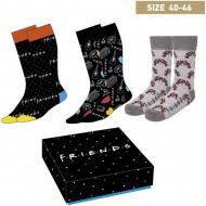 pack calcetines 3 piezas friends multicolor talla 40 46