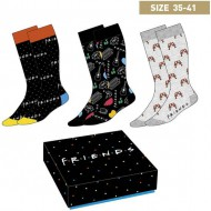 pack calcetines 3 piezas friends multicolor talla 35 41
