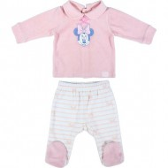 polaina velour cotton minnie rosa talla 0 meses
