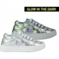 deportiva baja glow in the dark frozen 2 plata talla 26