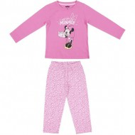 pijama largo single jersey minnie rosa talla 3 años