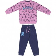 chandal 2 piezas cotton brushed minnie rosa talla 2 años