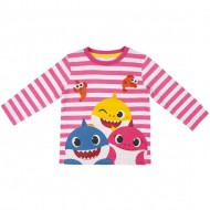camiseta larga single jersey baby shark talla 12 años