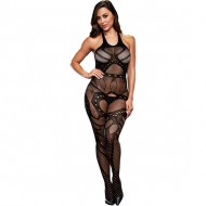 CROTCHLESS JACQUARD BODYSTOCKING BODY MALLA