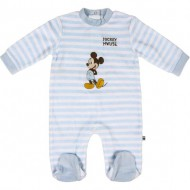 pelele velour cotton mickey gris 3 meses