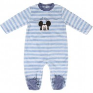 pelele velour cotton mickey azul 1 mes