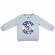 sudadera cotton brushed mickey gris talla 2 años