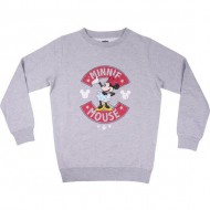 sudadera cotton brushed minnie gris talla 2 años