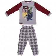 pijama largo single jersey harry potter gris