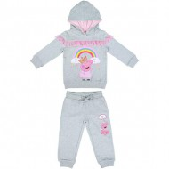 chandal tul cotton brushed peppa pig gris