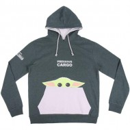 sudadera con capucha cotton brushed the mandalorian the child green