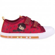 zapatilla loneta baja luces harry potter dark rojo