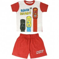 pijama corto single jersey cars rojo