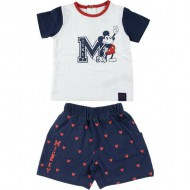 conjunto 2 piezas single jersey mickey blanco