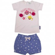 conjunto 2 piezas french terry baby shark rosa