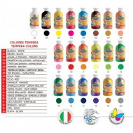 tempera botella 500 ml fucsia