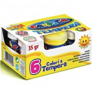 set 6 temperas bote 35gr