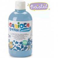 pintura tempera carioca color 500 ml celeste