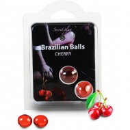 secret play set 2 brazilian balls aroma cereza
