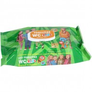 set 100 toallitas wc kids c tapa