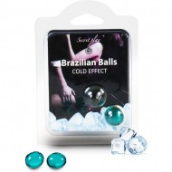 secret play set 2 brazilian balls efecto frío