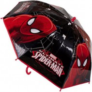 paraguas spiderman negro manual